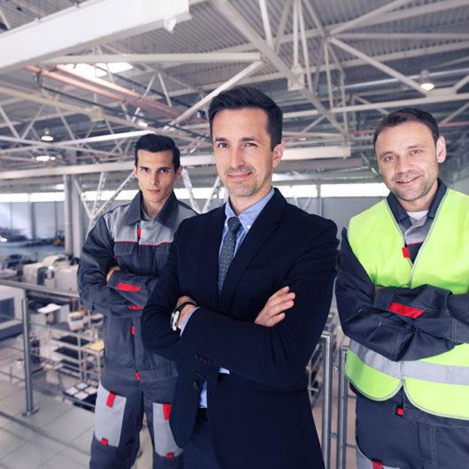 Extruded aluminum services team
