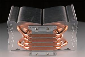 Heat sink design with custom heat pipe bending