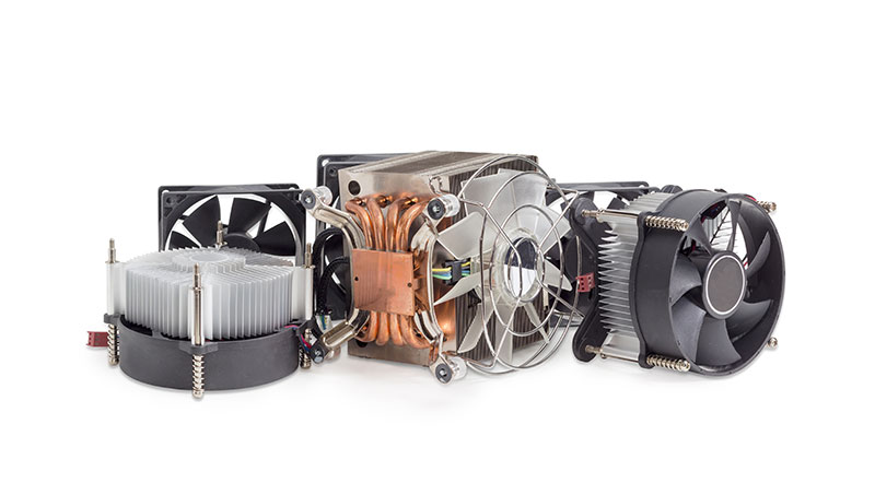 Active heat sink designs with fans