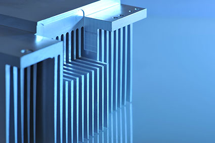 Precision machined extruded heat sink