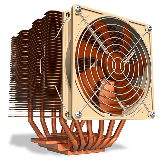 Active heat sink design with fan