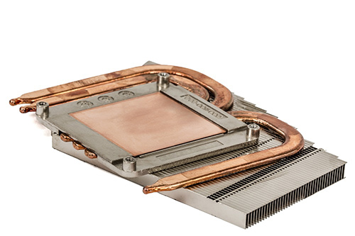 Progressive Die Stamped Heat Sinks with Heat Pipe Application