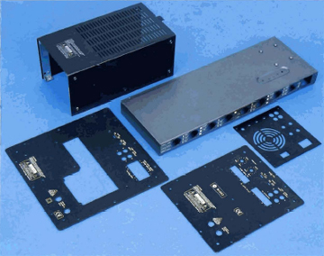 Precision metal stamping for enclosures