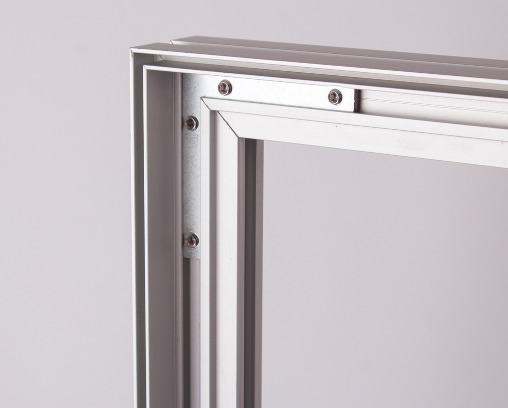 Window frame created with the aluminum extrusion design process