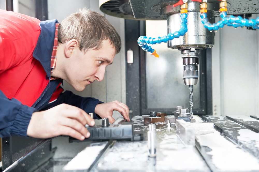 CNC-machining-for-aluminum in action